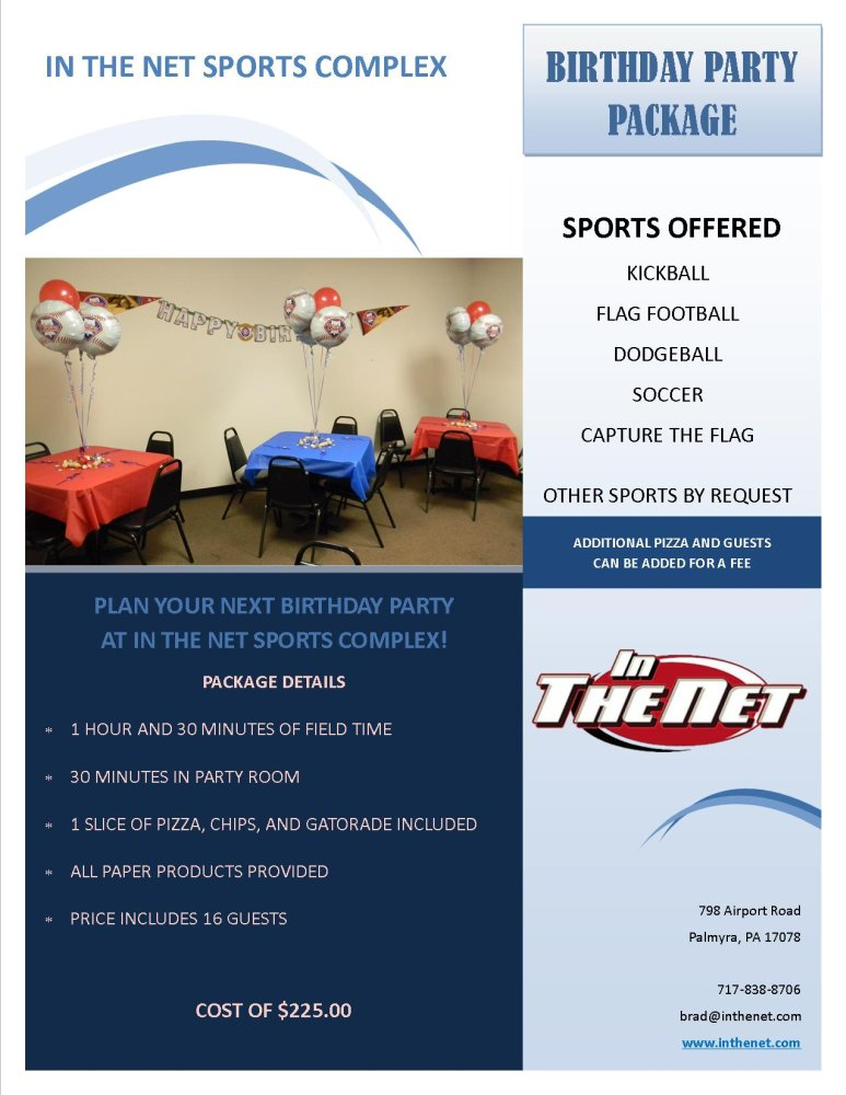 Birthday Parties - In The Net Sports Complex | An Outdoor